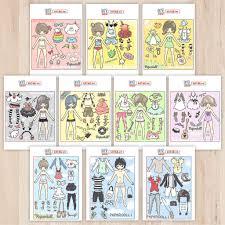 Mô hình giấy Búp bê giấy Set BBG 0017 - Kit168.vn Shop Online mô hình giấy