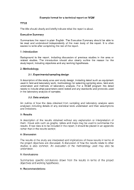 Engineering Technical Report Template Technical Report Writing Sample Pdf For Students Format Mechanical