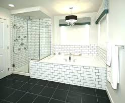 bathrooms with subway tile white tiles bathroom ideas black grout beveled modern antique shower bathrooms with subway tile
