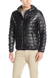levi s men s lightweight lamb faux leather quilted hooded puffer jacket s