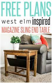 diy furniture west elm knock. DIY Furniture | Get The Free Woodworking Plans For A West Elm Inspired Magazine Sling End Diy Knock