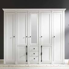 Landhaus Kleiderschrank Chelles In Weiß Mit Spiegel