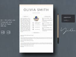 Modern Resume Style Esty Resume Template 4 Pages By Resume Templates Dribbble Dribbble