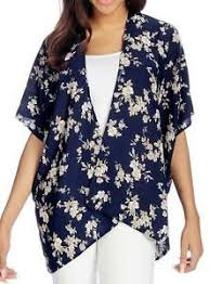 Kate And Mallory Size Chart Details About New Kate Mallory Printed Woven Elbow Sleeve Open Front Kimono Top
