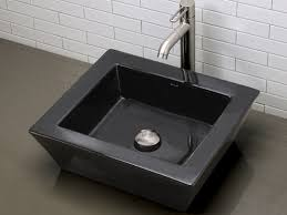 black vessel sink. Fine Black Ceramic Vessel SinksArched Square Black Vitreous China Inside Sink