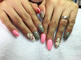 At Mcalnehty Mcalnehty Pink Gray Flowers Pinknails