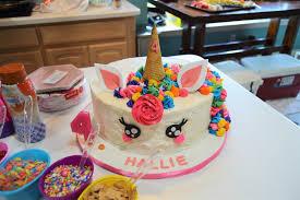 Hallies Rainbow Unicorn Ice Cream 4th Birthday Party