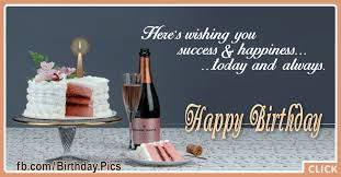 White Cake And Champagne Birthday Card Happy Birthday Videos And