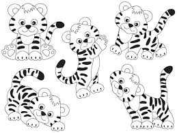 baby tiger clipart black and white. Wonderful Tiger Image 0 In Baby Tiger Clipart Black And White O