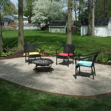 fire pit yard designs with pea gravel building a paver patio how