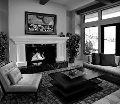 Black White Gray Living Room Interior Design Ideas Above Via Grey