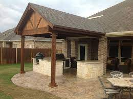 closed gable roof traditional patio