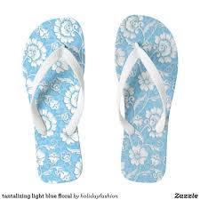 Light Blue Flip Flops Tantalizing Light Blue Floral Flip Flops Zazzle Com In
