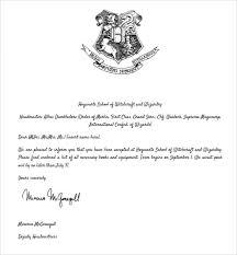 Hogwarts Acceptance Letter Text