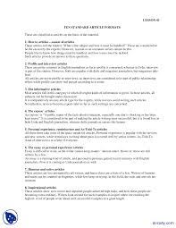 article formats feature and coloumn writing lecture handout docsity  the document
