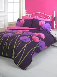 tulip duvet cover set plum  free uk delivery  terrys fabrics