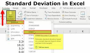 Google Charts Standard Deviation Standard Deviation In Excel How To Use Stdev S Formula In
