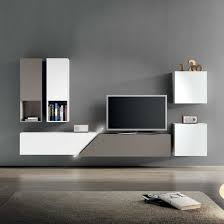 Floating Tv Stand Tv Stand With Color White And Gray Tv Stand And Gray Wall Plus