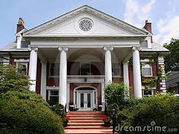 Columns House Incredible Big House Royalty Free Stock Photography.