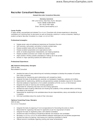 Recruiter Resume. Sample Resumes Hr Recruiter Or Human Resources