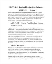 Cost Proposal Templates Sample Estimate Proposal 100 Documents in Word PDF 29