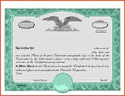Stock Certificate Template Free Stock Certificate Template Condo Financials Com