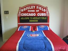 chicago cubs bed wrigley field marquee