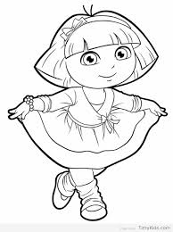 Dora Coloring Pages The Explorer Color Free Page Pdf