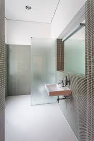Bathroom Partition Interesting Obscure Glass Partition Instead Of A Solid Wall To Let In Light