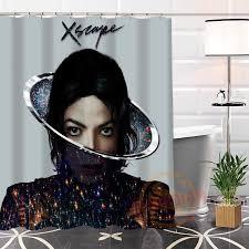 New arrival Custom Michael Jackson@2 Fabric Shower Curtain bathroom 100% Polyester Waterproof Popular