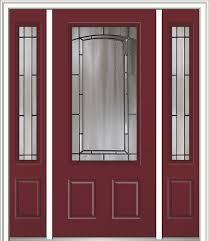 solstice steel 3 4 lite 2 panel contemporary front doors by verona home design