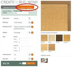 custom rug size the standard rug sizes are going to be displayed by default to start custom rug size