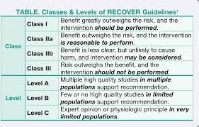 Cardiopulmonary Resuscitation The Recover Guidelines