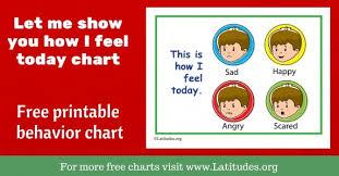 Free Printable Feelings Emotions Charts For Teachers