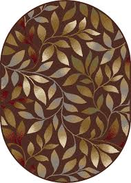 6x9 brown vines petals stems fl area rug oval 5488 aprx 6 7 x 9 6