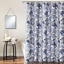 beautiful shower curtains. Cynthia Jacobean Shower Curtain In Blue Beautiful Curtains