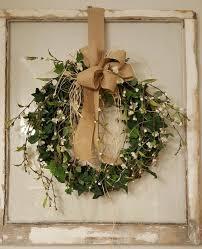 Front Door Wreath Greenery Wreath Design Ideas Of Spring Door ...