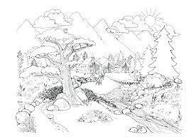 Coloring Pages Nature Cat Coloring Pages Of Nature Coloring Pages
