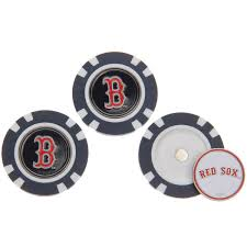 ball markers. boston red sox 3-pack poker chip golf ball markers