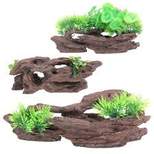 Fish Tank Accessories And Decorations Resin Aquarium Tree Trunk Decoration Artificial Driftwood Resin 38