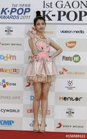 Gaon Chart 2011 South Korean Singer Iu Poses For Photographers Before The