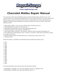 chevrolet bu repair manual 1997 2012