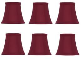 red silk 5 inch empire clip on chandelier lamp shade set of 6