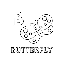 Master the abcs with our fun and interactive alphabet games for preschool through kindergarten. Vector Cute Cartoon Animals Alphabet Butterfly Coloring Pages Stock Vector Illustration Of Book Language 148755842