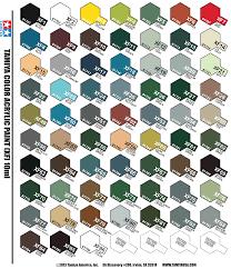 Tamiya Paint Color Chart