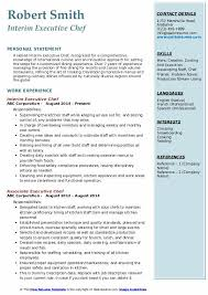From the bottom of the. Executive Chef Resume Samples Qwikresume