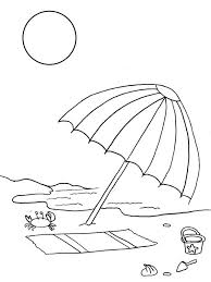 Small Picture A Kids Drawing of Beach Umbrella Coloring Page A Kids Drawing of