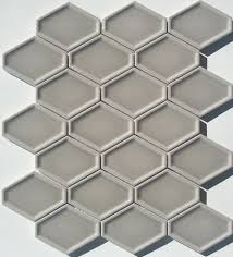 lounge elongated hex tile concave surface in greige