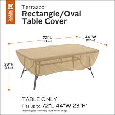 rectangular patio furniture covers. Amazon.com : Classic Accessories Terrazzo Rectangular/Oval Patio Table Cover - All Weather Protection Outdoor Furniture (58242-EC) Rectangular Covers W