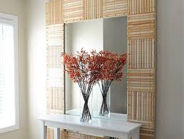 diy mirror frame. Simple Mirror The Frame Of This Huge Mirror Is Comprised Wooden Rulers Nifty Huh  This Fantastic If You Happen To Know Where Can Find A Good Number  With Diy Mirror Frame E